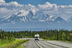 Hitting the Roads (endrunner) Tags: dsc2595copy landscape cloudscape mountain glacier snow highway