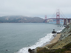 Golden Gate Bridge (jonhuskisson) Tags: goldengatebridge california sanfrancisco bridge golden gate coast sea nature landscape architecture