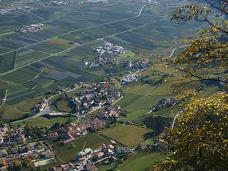 Blick von Graun auf Kurtatsch - Südtirol