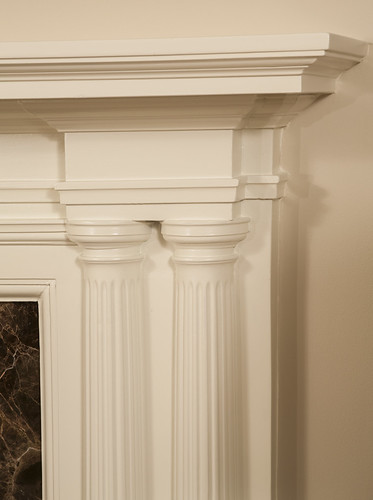 Early 1900s Greek Revival Bath and Fireplace 0
