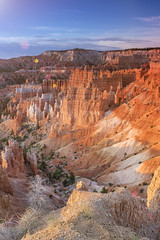 Sunrise at Bryce Canyon as Viewed From Sunrise Point at Bryce Canyon National Park,in  Utah, United States of America. (DmitryMorgan) Tags: landscape panorama usa utah america american brown bryce brycecanyon brycecanyonnationalpark canyon cliff colorful columns day dusk famous formation grand hoodoo landmark monument morning mountain national natural nature orange peaceful pinnacle point red rock sandstone scenic serenity shapes southwest spires sunrise tourism unique us valley vibrant viewpoint