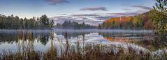 Fish Lake Sunrise (ER Post) Tags: americanstates fishlake michigan michiganlake trips uptrip2017