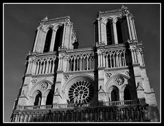 B&W Notre Dame de Paris (dominotic) Tags: paris france notredamedeparis ourladyofparis notredame gothiccathedral blackandwhite roof history architecture bw cathedral window fourtharrondissement îledelacité icon catholicchurch circle