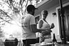 Harrell & Allison (BurlapZack) Tags: pentaxk1 pentaxfalimited43mmf19 vscofilm pack06 dentontx portrait bbq barbeque barbecue backyard housewarming party grill grilling cookout couple candid bokeh house neighborhood americana smalltownamerica bw mono monochrome cinematic cuties beer dof afternoon summer summertime