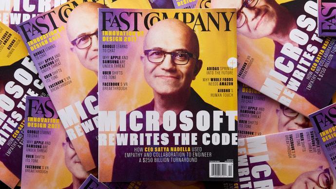 3年市值增長2500億美元,納德拉是如何重塑微軟的