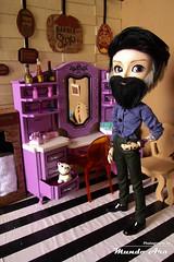 Mustache Barber Shop (Mundo Ara) Tags: barber shop mustache doll diorama taeyang william hipster vintage retro barbearia