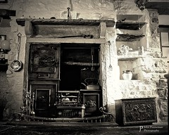 Coal Fireplace, Gayle, Yorkshire Dales UK (John Panneman Photography) Tags: coal fireplace fire gayle hawes yorkshire dales uk nikon d610 panneman sepia
