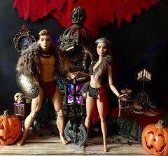 A Halloween Party (MaxxieJames) Tags: halloween party vittoria belmonte bastian hunter doll dolls mattel barbie ken collector costume fancy dress