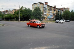 Very typical street scene. Kramatorsk, Ukraine 2016 (Mangazeya) Tags: ukraine kramatorsk donbass donetskoblast lada zhiguli 2101