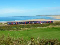 150265 & 150104 Porthkidney sands (3) (Marky7890) Tags: gwr 150104 150265 class150 sprinter 2a28 porthkidneysands stivesbayline railway cornwall train