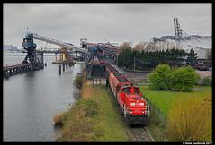 DB Cargo 6425, Amsterdam Westhaven 01-04-2017 (Henk Zwoferink) Tags: amsterdam noordholland nederland nl oba henk zwoferink db cargo 6400 mak 6425 falns cokes westhaven