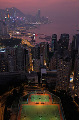 """the night game begins quietly"" (hugo poon - one day in my life) Tags: x100f hongkong northpoint cloudviewroad ifc central bankofchinatower victoriaharbour causewaybay causewaybaytyphoonshelter skyline skyscrapers colours dusk goodnight city playground games urban sky"