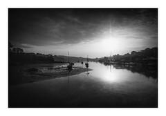 Ebb and Flow (David Haughton) Tags: river riverside penryn cornwall falmouth cornish morning dawn sun reflections blackandwhite bw mono monochrome fineart landscape davidhaughton