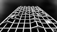 Dark Vector (Robert_Franz) Tags: architecture architectural munich modern abstract sky design detail futuristic fineart geometry germany minimalistic nd naturallight building blackwhite blacksky city colors wideangle effect exterior urban münchen
