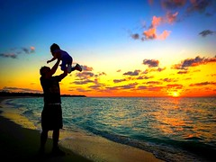 Father and daughter ❤️ (corineouellet) Tags: sunrise sky colors family beach sunset cuba