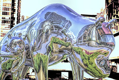 2 Bears (beelzebub2011) Tags: canada britishcolumbia vancouver downtown sculpture artwork abstract