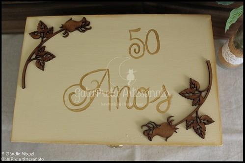 """Caixa de recordações de casamento """"50 Anos"""""""