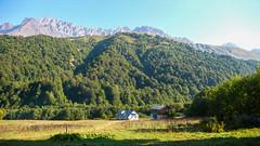 Zeshko Alpine Camp 1800m. Savi Utsnobi (Czarna Nieznajoma) 4114m., Tetri Utsnobi (Biała Nieznaajoma) 4049m., Zeskho 3792m., Marjanishvili 3555m. (Tomasz Bobrowski) Tags: zeskhobasecamp zeskho wspinanie mountains tetriutsnobi saviutsnobi kaukaz góry marjanishvili gruzja białanieznajoma caucasus czarnajanieznakomka georgia climbing