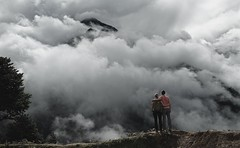 Head in the Clouds (Kramskorner) Tags: mount everest base camp 2017 katmandu mountains himalayas pumori ama dablam snow capped peaks summit trek trekking hiking high altitude sony a7ii 24240mm landscape sunrise bw