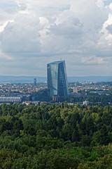 Frankfurt Stadtwald (Rolf Majewski) Tags: frankfurt goetheturm aussichtsturm stadtwald skyline ezb