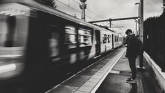 Arrivals (meohmyhaha) Tags: blackwhite tracks train transport platform commute commuting sthelens