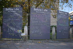 P2020837 Before I die (tottr) Tags: detmold deutschland germany herbst autumn fall oktober october 2017 schreibtafel tafel blackboard chalkboard beforeidie bevorichsterbe