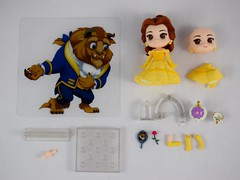 Belle Nendoroid - Good Smile Company - Contents Deboxed and Laid Out (drj1828) Tags: belle nendoroid goodsmilecompany beautyandthebeast figure posable vinyl purchase deboxed