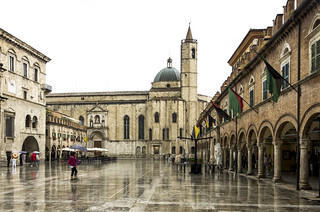 Ascoli Piceno in the rain