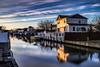The Canal (Bob90901) Tags: canal lindenhurst newyork longexposure evening sunset spring neutraldensity nd graduatedneutraldensity gradnd lee bigstopper 09gradnd canon 6d canonef2470mmf28liiusm 2016 april 1919