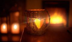 Autumn Nights.. (KissThePixel) Tags: candle candles fire fireplace hearth bokeh goldbokeh goldenbokeh light evening autumnevening autumn autumnlight autumncolours warm nikon nikondf 50mm aperture ai ailens f12 12 nikkor12 macro stilllife stilllifephotography silhouette glow flame
