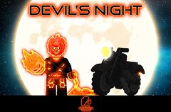 "Halloween: ""Devil's Night"" 🎃👿️️👻️ [GHOST RIDER] [A DAY IN THE LIFE] (agoodfella minifigs) Tags: lego marvel marvellego legomarvel minifigures marvelcomics comics heroes halloween happyholidays holidays ghostrider robbiereyes johnnyblaze octoberinbricks"