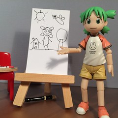 Yotsuba & Her Self-Portrait (Sasha's Lab) Tags: yotsuba koiwai art drawing selfportrait girl child children