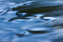 Housatonic River Monster Abstract (Skyelyte) Tags: housatonicriver abstract slowshutter blue river rocks water wave waves newengland sharonconnecticut monster rivermonster lowlightphotography