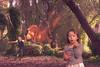 composite cc (Sharon Ryan 2012) Tags: kids bubbles dinosaur secretgarden