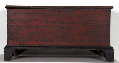 Dovetailed Blanket Chest with Red Grain Paint ($308.00)