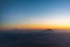 Sunset flight out of Seattle (lansiar) Tags: washington volcano rainier sthelens adams hood