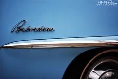 Mr. Belvedere (Hi-Fi Fotos) Tags: plymouth belvedere badge chrome blue vintage logo emblem lettering script american classiccar nikkor 50mm 14 nikon d7200 dx hififotos hallewell