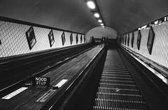 Escalator St. Anna Tunnel in Antwerp (miguel_m83) Tags: rodinal trix 400 hochzeitstag2017 bw antwerpen analog leicam2 epsonv600