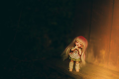 Out of the Darkness... (*DollyLove*) Tags: pukifee fairyland bjd doll bokeh canon dark light sleep rin