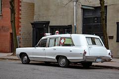 Vintage Pontiac Bonneville ambulance (Canadian Pacific) Tags: car auto automobile old preserved vintage ambulance stpatricks day parade 2016aimg0114 toronto ontario canada canadian gm pontiac bonneville estate station wagon georgestreet