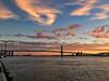 Penns Landing Sunrise (dweible1109) Tags: sunrise benjaminefranklinbridge delawareriver iphone pennslanding magichour philadelphia penna