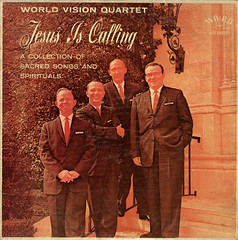 Jesus Is Calling (Jim Ed Blanchard) Tags: lp album record vintage cover sleeve jacket vinyl weird funny strange kooky ugly thrift store novelty kitsch awkward god religion religious christian jesus calling world vision quartet bad color