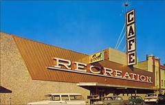 THE RECREATION (1950sUnlimited) Tags: bowling bowlingalleys therecreation thedalles oregon leisure sports travel dining lounges cocktaillounges postcards 1960s
