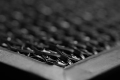 Macro (Emilynxphotography) Tags: foundinmykitchen grate photography macro macromondays flickr blackandwhite bw blur kitchen black white object contrast canon 1300d eos exposure monochrome home