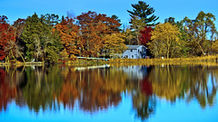 Boathouse Reflections (Bob's Digital Eye) Tags: 2017 autumn autumncolour autumnleaves bobsdigitaleye canon canonefs55250mmf456isstm fall fallcolor flicker flickr h2o lakescape landscape october t3i trees water lake tree serene forest woods reflections