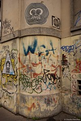 IMGP6977 Urban vandalism (Claudio e Lucia Images around the world) Tags: tag vandalism school notstreetart tags notart liceo milano alessandrovolta highschool sigma benedettomarcello sigma1020 pentax pentaxk3ii