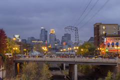 Minneapolis and Dinkytown (Sam Wagner Photography) Tags: minneapolis minnesota twin cities stormy fall autumn blue hour twilight long exposure annies restaurant kittycatklub neon sign lights city cityscape skyline skyscrapers downtown midwest