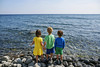 Missing the big water (Elizabeth Sallee Bauer) Tags: nature active bonding boy brother child childhood copyspace family friends fun girl kid lake outdoors outside playing rocks siblings sister summer throwing water youth