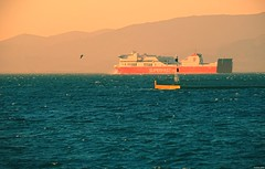 Departure (KOSTAS PILOT) Tags: greece westpeloponese achaia port lighthouse seawall newportpatras superfast1 superfast passengership sea waves mediterranean ionion goldenlight goldenhour patracitysunset sunset sunsetcolors colors seagull silhouette shadows patraikos nautical ship sony sonyhx60 kostaspilot ελλάδα πελοπόννησοσ αχαιασ πατρα πατρινοηλιοβασίλεμα ηλιοβασίλεμαπατρασ ηλιοβασίλεμα λιμάνι harbor ιονιον μεσόγειοσ θάλασσα ουρανόσ σιλουέτα πλοιο καραβι φαροσ χρωματα κυματα κυματοθραυστησ χρυσηωρα χρυσοφωσ ναυτιλια