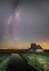 Thomas a Becket Church Milky Way (Nathan J Hammonds) Tags: thomas a becket church kent romney marshes uk britain milky way sky stars water nikon d750 irex 15mm f24 torch astrophotography